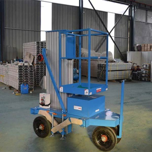 Customized single man lift with pneumatic tyre