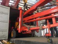 trailer articular boom lift